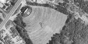 aerial photo of The Saco Drive-In